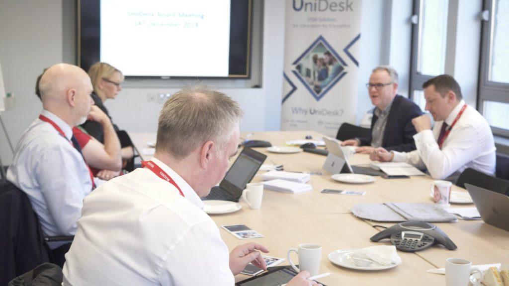 UniDesk board meeting