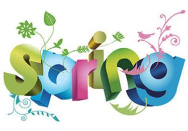 Flowery spring text